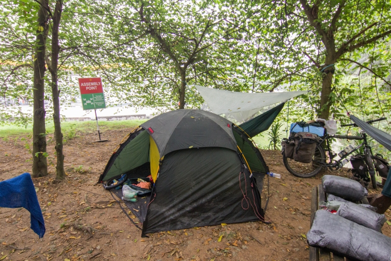 Our first night camping in Malaysia